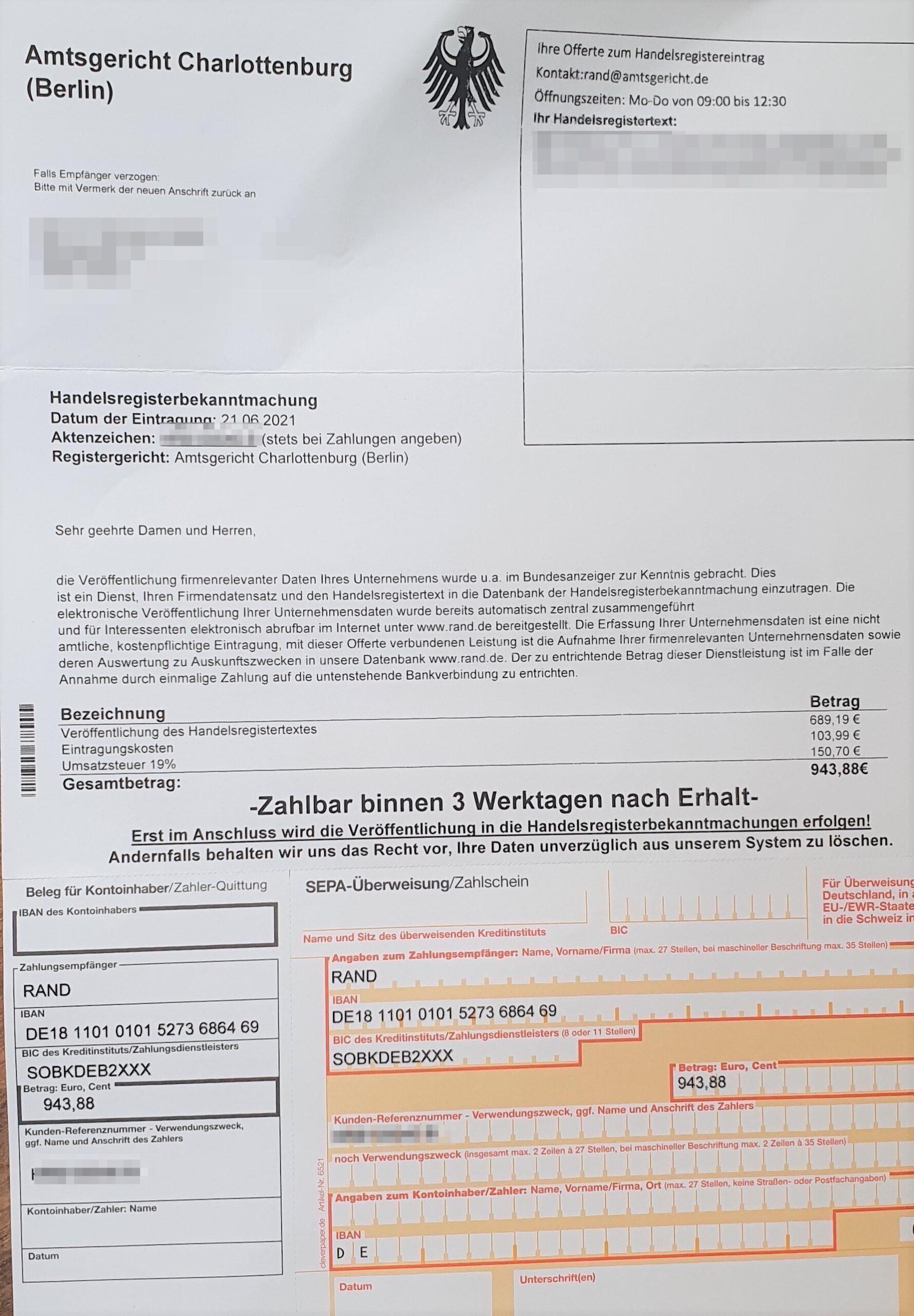 Amtsgericht Berlin   Schummelrechungen by LexMentis